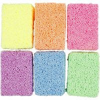 Soft Foam, colores neón, 6x10 gr/ 1 paquete