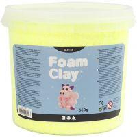 Foam Clay®, purpurina, amarillo, 560 gr/ 1 cubo