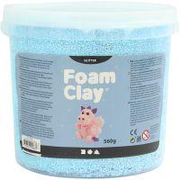 Foam Clay®, purpurina, azul claro, 560 gr/ 1 cubo
