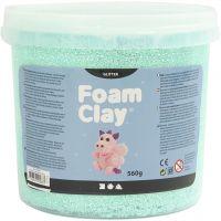 Foam Clay®, purpurina, verde claro, 560 gr/ 1 cubo