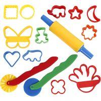 Cortadores y herramientas, medidas 3,5x3,5-7x9 cm, surtido de colores, 15 ud/ 1 paquete