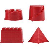 Moldes para arena, castillo, medidas 5,5-8,5 cm, 4 ud/ 1 paquete