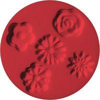 Molde de empuje FIMO, Flores, dia: 7 cm, 1 ud
