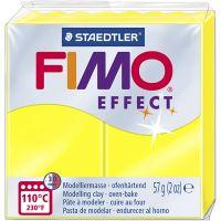FIMO effect, amarillo neón, 57 gr/ 1 paquete