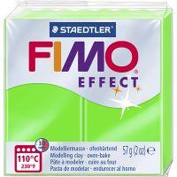 FIMO effect, verde neón, 57 gr/ 1 paquete