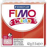Pasta de modelar FIMO® Kids , rojo, 42 gr/ 1 paquete