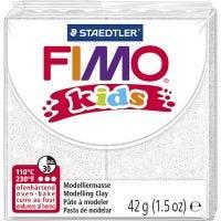 Pasta de modelar FIMO® Kids , purpurina, blanco, 42 gr/ 1 paquete