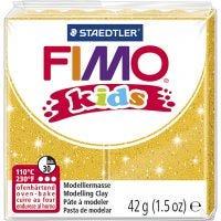 Pasta de modelar FIMO® Kids , purpurina, dorado, 42 gr/ 1 paquete