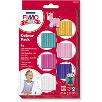 Pasta de modelar FIMO® Kids , colores adicionales, 6x42 gr/ 1 paquete