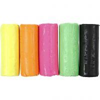 Soft Clay, A: 9,5 cm, colores neón, 400 gr/ 1 cubo