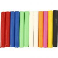 Soft Clay, surtido de colores, 200 gr/ 1 paquete