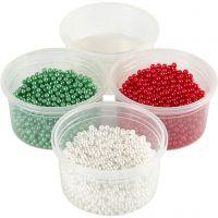 Pearl Clay, verde, rojo, blanco, 1 set, 3x25+38 gr