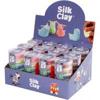Silk Clay® , colores neón, colores estándar, 12 set/ 1 paquete