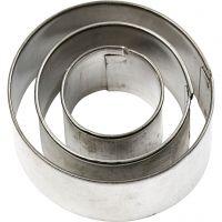 Cortador de metal, redondo, medidas 40x40 mm, 3 ud/ 1 paquete