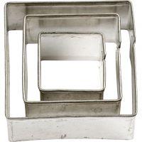Cortador de metal, cuadrados, medidas 20+30+40 mm, 3 ud/ 1 paquete