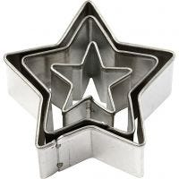 Cortador de metal, estrellas, medidas 40x40 mm, 3 ud/ 1 paquete