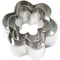 Cortador de metal, flor, medidas 40x40 mm, 3 ud/ 1 paquete