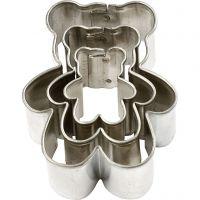 Cortador de metal, oso, medidas 35x40 mm, 3 ud/ 1 paquete