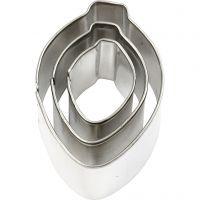 Cortador de metal, ornamento, medidas 30x40 mm, 3 ud/ 1 paquete