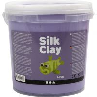 Silk Clay® , morado, 650 gr/ 1 cubo