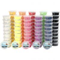 Foam Clay®, surtido de colores, 10x10 bote/ 1 paquete