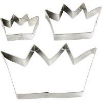 Cortador de metal, corona, medidas 13,3x7,5 cm, 3 ud/ 1 paquete