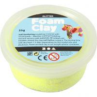 Foam Clay®, purpurina, amarillo, 35 gr/ 1 bote