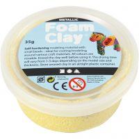 Foam Clay®, Metálica, amarillo, 35 gr/ 1 bote