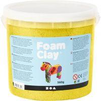 Foam Clay®, Metálica, amarillo, 560 gr/ 1 cubo