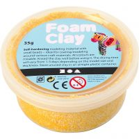 Foam Clay®, amarillo, 35 gr/ 1 bote