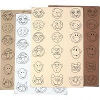 Caras de goma EVA, dia: 30-40 mm, 72 stdas/ 1 paquete