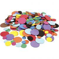 Círculos de goma EVA, dia: 12+20+32 mm, surtido de colores, 2120 stdas/ 1 paquete