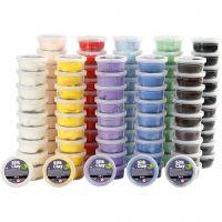 Silk Clay® , surtido de colores, 10x10 bote/ 1 paquete