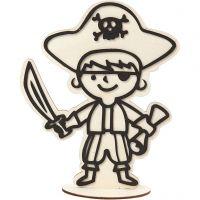 Figura de decoración, Pirata, A: 19 cm, 1 ud