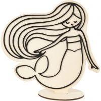Figura de decoración, Sirena, A: 18 cm, 1 ud