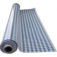Mantel de cera, Cuadrados azules, medidas 140 cm, 1 ml