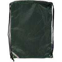 Bolsa con cordón, medidas 31x44 cm, verde, 1 ud