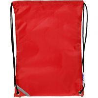 Bolsa con cordón, medidas 31x44 cm, rojo, 1 ud