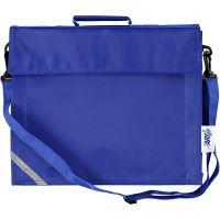 Bolsa escolar, profundidad 6 cm, medidas 36x31 cm, azul, 1 ud