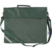 Bolsa escolar, profundidad 6 cm, medidas 36x31 cm, verde, 1 ud