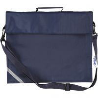Bolsa escolar, profundidad 6 cm, medidas 36x31 cm, azul oscuro, 1 ud