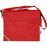 Bolsa escolar, profundidad 6 cm, medidas 36x31 cm, rojo, 1 ud