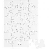 Rompe cabezas, medidas 15x21 cm, blanco, 16 ud/ 1 paquete