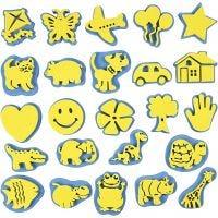 """Set de sellos de foam """"cada día"""", A: 6-8 cm, 24 ud/ 1 paquete"""