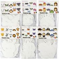 Máscaras, A: 15-22 cm, A: 24-25 cm, 230 gr, blanco, 192 ud/ 1 paquete