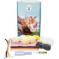 Pascua Kit de animales pom-pom, 1 set