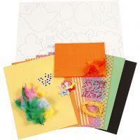 Set de Pascua DIY, colores fuertes, 1 set