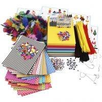 Gran pack creativo con materiales y plantillas, surtido de colores, 1 set