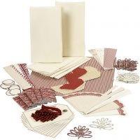 Kit de materiales Vivi Gade Felicidad, dorado, rojo, blanco, 1 set