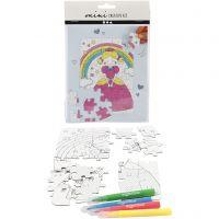 Mini Kit Creativo, Princesa, blanco, 1 set